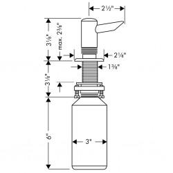 Hansgrohe distributeur savon liquide a/enc. chr