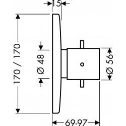 Axor Hansgrohe Starck X Set/Fin.Thermo. haut débit