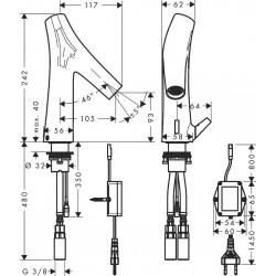 Axor Hansgrohe Starck Organic Electr.Secteur Manette