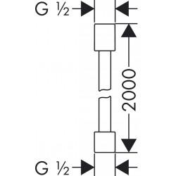 Axor Hansgrohe Starck Isiflex flexible 200cm chromé