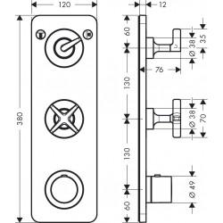 Axor Hansgrohe Citterio E TH Modul FS 38x12 2 V.chr.