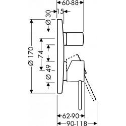 Axor Hansgrohe Uno 2 Set cuve de enc.a.disconnecteur