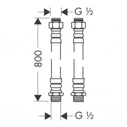Hansgrohe Flexible de Raccordement Pr/Eau