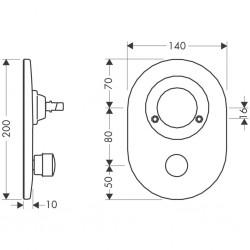 Hansgrohe Kit de rénovation sphere/M3 mitigeur.b RSS