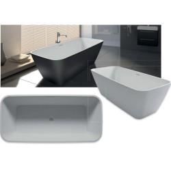 RIHO Malaga 160x75x56,5 Solid mat blanc