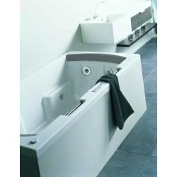riho lisa 180x90 blanche commande lcd avec r chauffeur repose t te de couleur gris. Black Bedroom Furniture Sets. Home Design Ideas