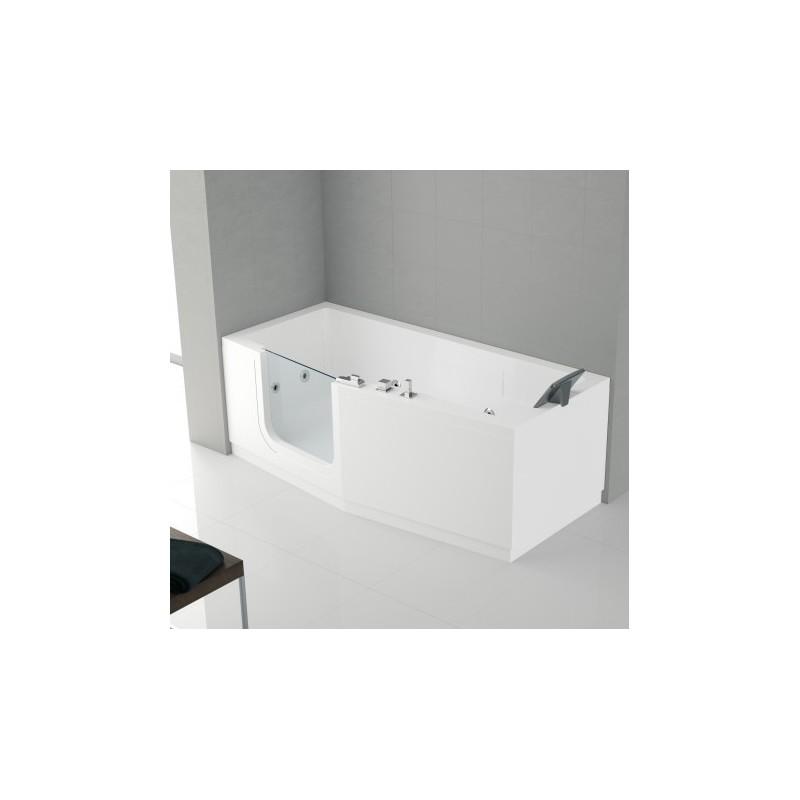 Novellini Iris Baignoire A Porte 160x70 Gauche Whiairdestelec Blanc Sans Tablier Finition Chrome Iri416070tcs A0k