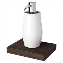 GEESA Distributeur de savon 200 ml, bois