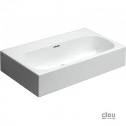 clou Match Me lavabo, avec 3 points d'amorçage, sans bonde libre, céramique blanche. À suspendre ou à poser