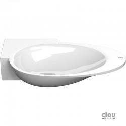 clou First vasque lave-mains avec 1 point d'amorçage et bonde libre, à gauche, marbre minéral