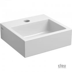 clou Flush 1 lave-mains avec trou pour robinet et bonde libre, céramique blanche