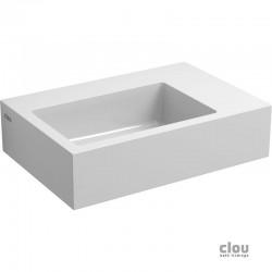 clou Flush 2 lave-mains avec 1 point d'amorçage et bonde libre, marble minéral