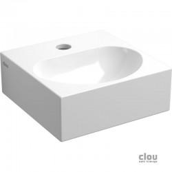 clou Flush 4 lave-mains avec trou pour robinet et bonde libre, céramique blanche