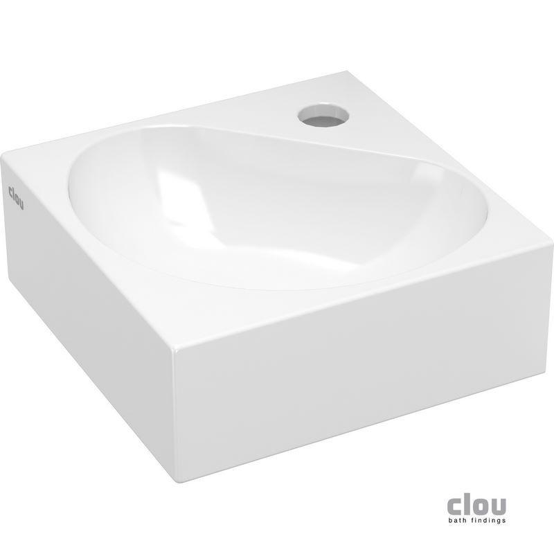 clou flush 5 lave mains angulaire avec trou pour robinet. Black Bedroom Furniture Sets. Home Design Ideas