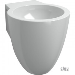clou Flush 6 lave-mains sans trou pour robinet, avec bonde libre et siphon, céramique blanche