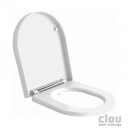clou First toiletzitting met deksel en quick release systeem, zonder soft-close, wit