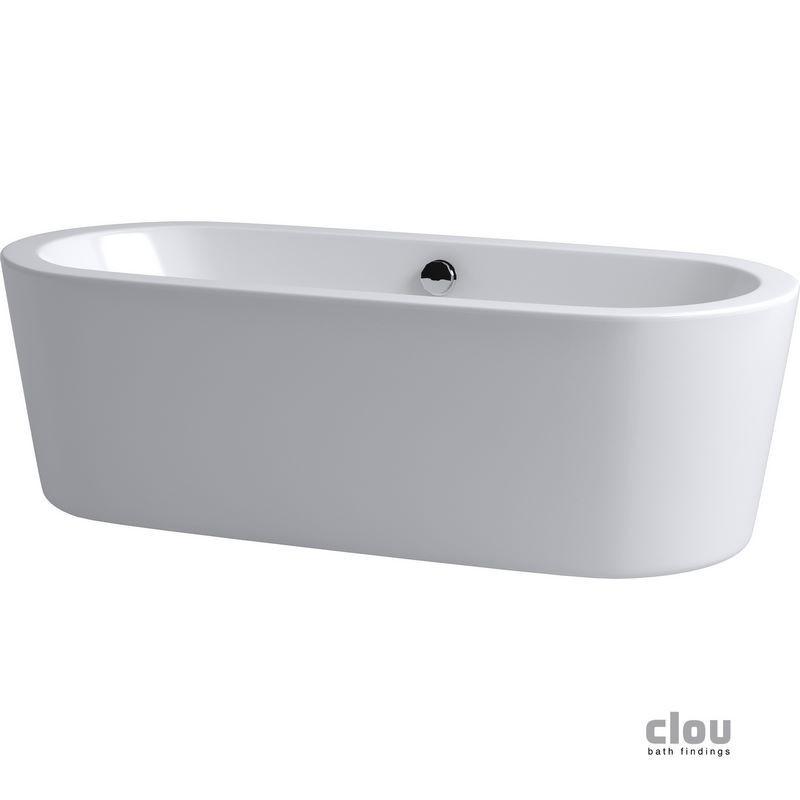 clou inbe baignoire libre avec bonde pop up trop plein et siphon ovale acrylique blanc ib 05. Black Bedroom Furniture Sets. Home Design Ideas