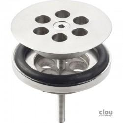 clou Wash Me bonde, inox brossé pour emploi avec bouchon en silicone