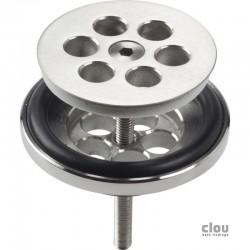 clou Mini Wash Me bonde, inox brossé, pour emploi avec bouchon en silicone