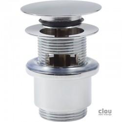 clou InBe bonde stop/go avec couvercle plat et trop-plein, rond, chrome. Convient pour tout type courant de lavabo