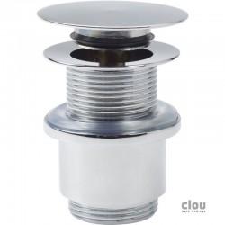 clou InBe bonde stop/go avec couvercle plat, sans trop-plein, rond, chrome. Convient pour tout type courant de lavabo