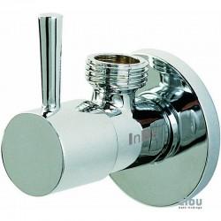 clou InBe robinet d'équerre design type 1, rond, chrome