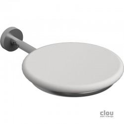 clou Slim porte-savon, inox brossé et aluite