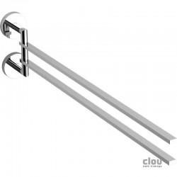 clou Flat porte-serviette double, barres amovible, chrome