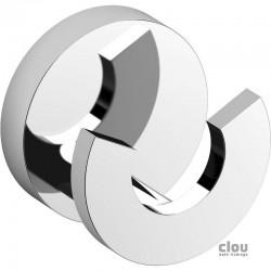 clou Flat double patère, chrome