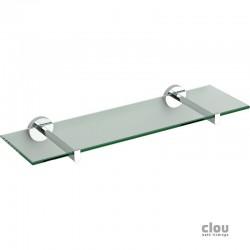 clou Flat tablette, chrome et verre transparent