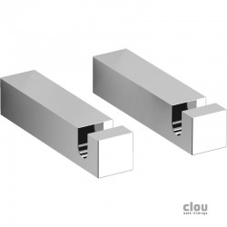 clou Quadria set de 2 patères, chrome