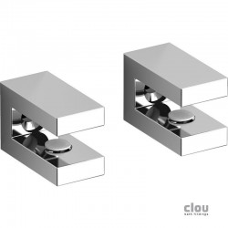 clou Quadria set de 2 supports pour tablette, chrome. Epaisseur max. du verre 6mm