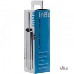 clou InBe set d'acessoires comportant porte-balai, porte-rouleau, porte-rouleau de réserve et patère, chrome. Prix à la