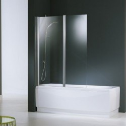 Novellini  aurora 2 2 paroi 120x150 cm verre trempe transparent  chrome