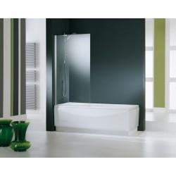 Novellini  aurora 5 paroi de baignoire 70x150 cm verre trempe transparent  chrome