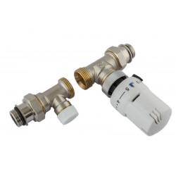 Rechte thermostatische radiatorkraan