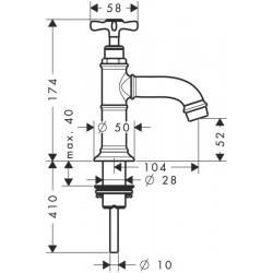 axor hansgrohe montreux robinet simple court bn 16530820. Black Bedroom Furniture Sets. Home Design Ideas
