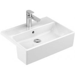 Villeroy & Boch Memento Vasque semi-encastrée Edelweiss CeramicPlus