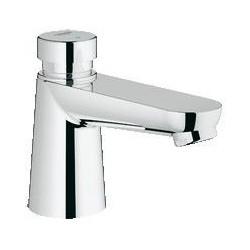 """Grohe Euroeco CS robinet temporisé ½"""" pour lavabo pour eau froide ou prémitigée (bleu/rouge), autofermant, EcoJoy, chromé"""