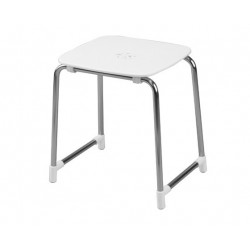Gedy tabouret blanc chrome 6072 23 - Sgabello bagno gedy ...