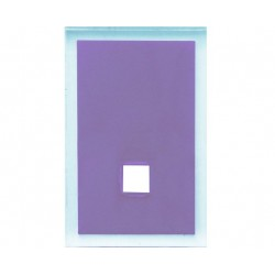 GEDY 2 COUVRE PLAQUE MAINE LILAS