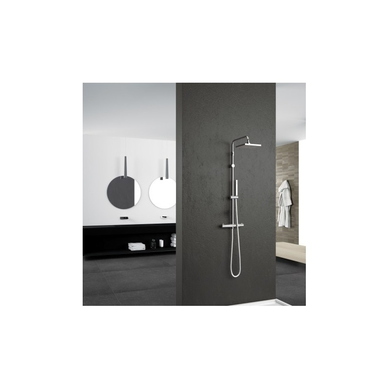 Novellini easy 2 colonne de douche thermostatique easy2t k - Installation colonne de douche ...