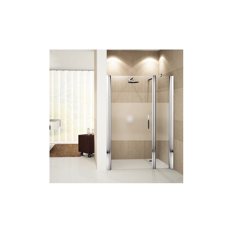 novellini giada g f porte pivotante avec paroi fixe en alignement 144 gauche 144 150 verre. Black Bedroom Furniture Sets. Home Design Ideas