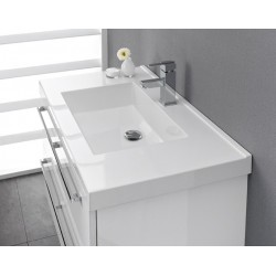 meuble de salle de bain pelipal cubic de 90 cm blanc blok cubic 3 3 pg2. Black Bedroom Furniture Sets. Home Design Ideas