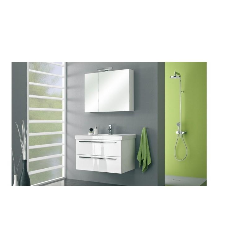 meuble de salle de bain pelipal cubic de 90 cm ch ne fonc. Black Bedroom Furniture Sets. Home Design Ideas