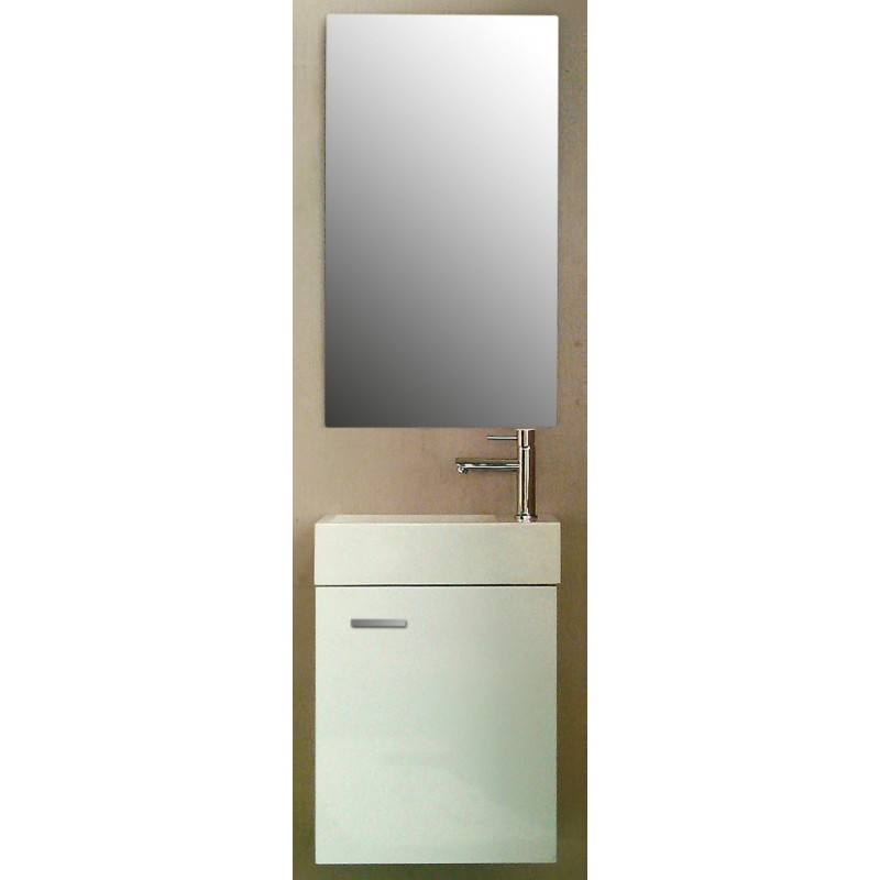 Meuble de toilette Salerno blanc brillant