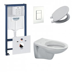 Pack toilette suspendue grohe complet touche blanche