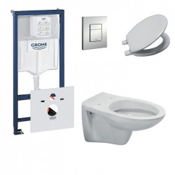 Pack toilette suspendue grohe complet touche blanche
