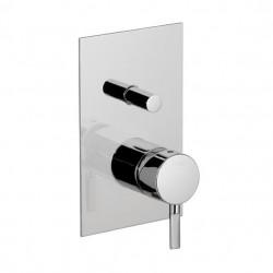 PONSI mitigeur de douche complet à encastrer sans inverseur  e avec de viatore