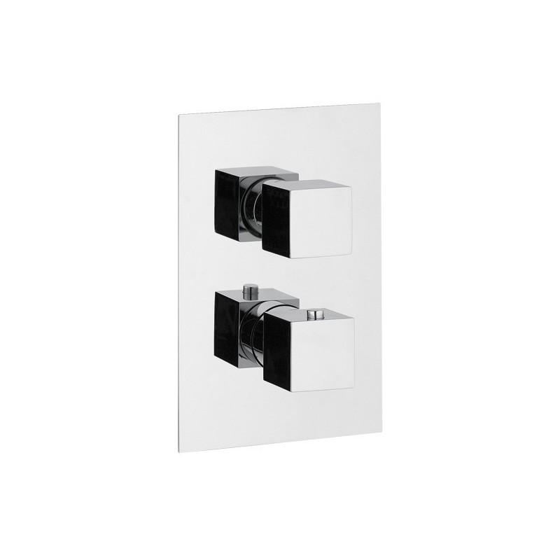 ponsi mitigeur thermostatique a encastrer avec inverseur 3 voies carr e bttrmcin04. Black Bedroom Furniture Sets. Home Design Ideas